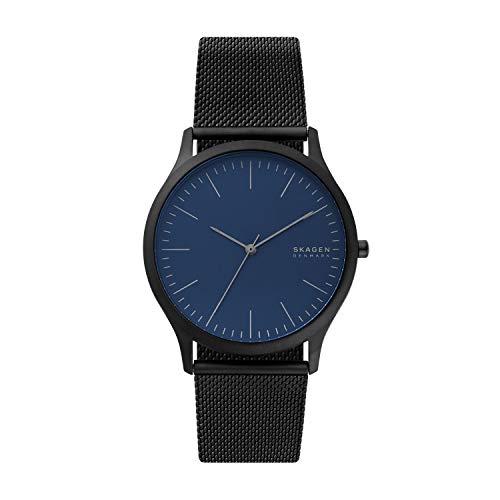 (Skagen Men's Jorn Quartz Watch with Stainless Steel Strap, Black, 22 (Model: SKW6554))