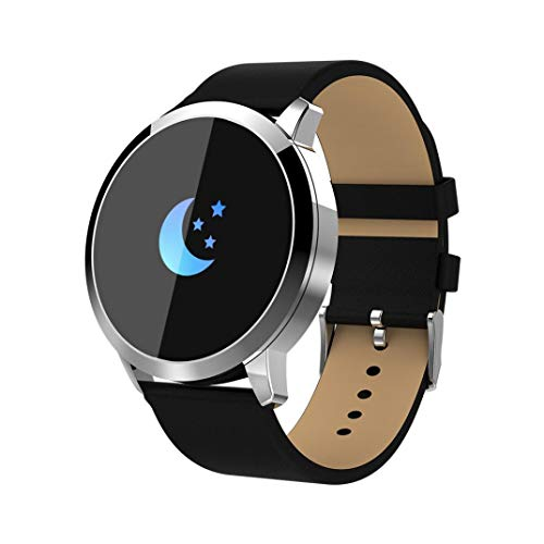 Insaneness OUKITEL W1 Bluetooth Smart Watch Fitness Tracker Android IOS Smartphones Watch Bracelet Link Ring (Sliver)