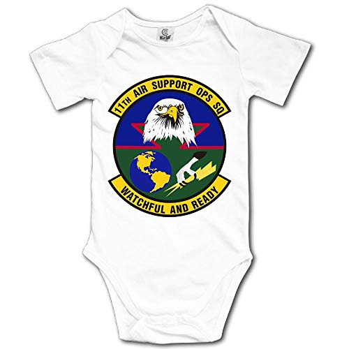 JSHG DSJF 11th Air Support Operations Squadron Newborn Baby Outfit Creeper Onesies Short Sleeves Bodysuits -
