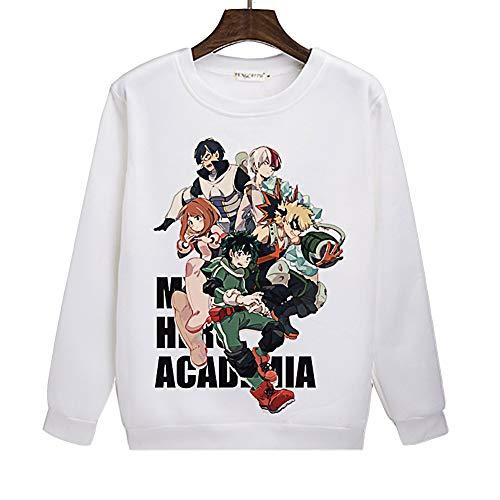 Boku No Hero Academia My Hero Academia Crewneck Sweatshirt Hoodie Cosplay Anime(6,XXL)