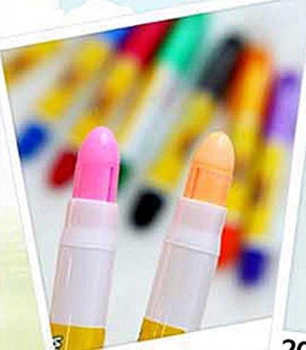 Toru Window Glass Color Crayon Marker Washable Paper Aqua Non-toxic 12 Colors by Toru (Image #2)