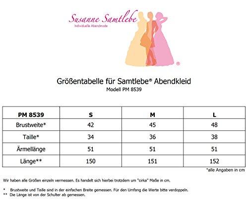 Samtlebe® - Feminines langes Abendkleid in Wickeloptik mit 3/4 Arm elegant - PM8539 in Royalblau Gr. S-L Royalblau 7HLgIfVH