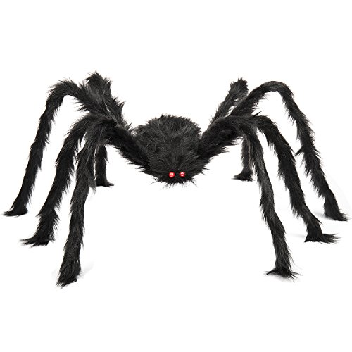 Halloween Decorations To (HOGARTECH Halloween Decoration Spider Oversized Spider 50 inch black spider for Halloween Decoration)