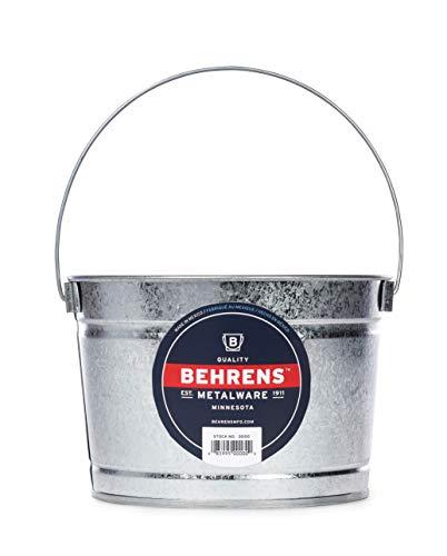 Galvanized Steel Buckets (Behrens B325 Galvanized Steel Paint Pail, 2.5 Quart,)