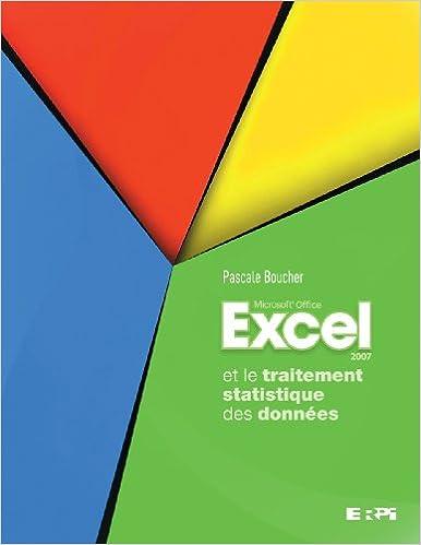 Lire un Excel et le traitement statistique des données pdf