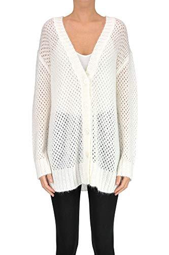 (Ermanno Scervino Ermanno Di Women's Mcglmgc000006015i White Acrylic Cardigan )