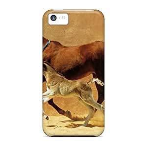AnnetteL RElTSKM6001GqQav Protective Case For Iphone 5c(mare And Foal)