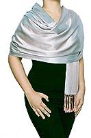 "Opulent Luxury Fashion Pashmina Wrap Scarf For Women Reversible Soft Luxurious Premium 100% Silk Shawl 70"" x 28"" Long"