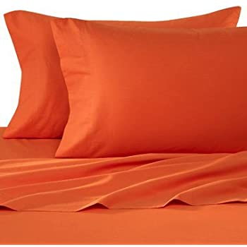 Gentil 1500 Thread Count Egyptian Quality Bed Sheet Set Queen HUNTER ORANGE Deep  Pocket