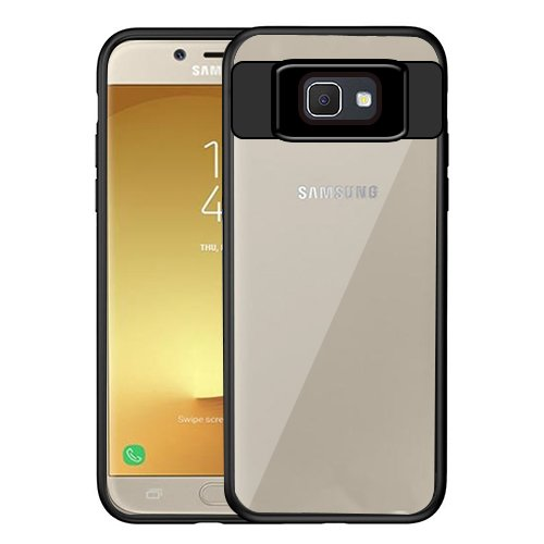 35723fb7940 Image Unavailable. Image not available for. Colour: Digiprints Soft Silicon  Bumper With Hard Transparent Pc Mobile Back Cover For Samsung Galaxy J7  Prime