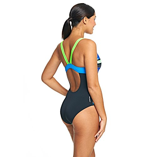 Zoggs aquabrush Sprintback Green/Multi-Colour