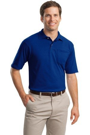 Jerzees 50/50 Jersey Pocket Polo w/Spotshield, TRUE ROYAL, X-Large -