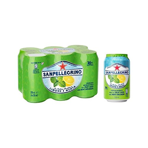 San Pellegrino Lemon & Mint 6 x 330ml (Pack of 6) by San Pellegrino