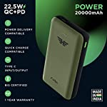 URBN 20000 mAh 22.5W Super Fast Charging Power Bank with 22.5W Type C PD (Input& Output) and QC 3.0 Dual USB Output with…