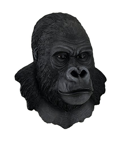 Zeckos 3-D Silverback Gorilla Head Wall Sculpture 16 in.