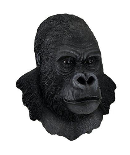 Zeckos 3-D Silverback Gorilla Head Wall Sculpture 16 in. ()