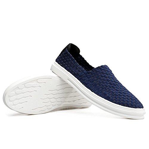 Spli Suole Flat Shape Classi Heel Men's Scuro Driving Scarpe Blu Cricket comode da su Loafer xwAgC