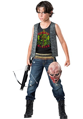 InCharacter Zombie Hunter Costume, Black/Gray, Small - Walking Dead Costumes For Kids