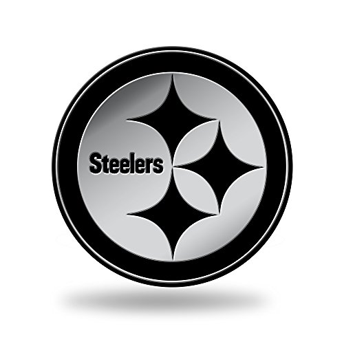 Rico Industries NFL Pittsburgh Steelers Chrome Finished Auto Emblem 3D Sticker