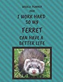 Ferret Weekly Planner 2020: Ferret Lover Gifts Idea For Men & Women - Funny Weekly Planner For Ferret Lovers With To Do List & Notes Sections