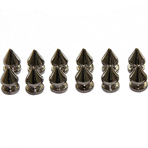 Tree Spike Studs and Spikes Metalic Screw Back Rivets for Leathercraft Punk DIY 12mm (50PCS, Silver)