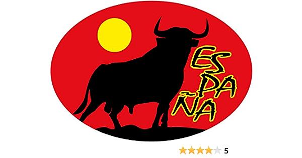 Artimagen Pegatina Bandera Oval Toro Luna España 80x60 mm: Amazon.es: Coche y moto