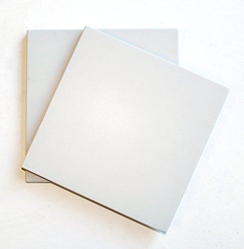 8X8 Antique White Matte Porcelain Stoneware Tile Bathroom Kitchen Entryway by Squarefeet Depot (Image #1)