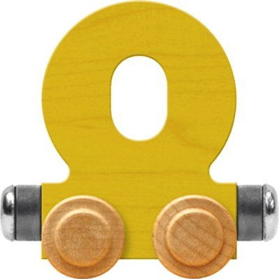 - NameTrain Bright Letter Car O - Made in USA (Yellow)