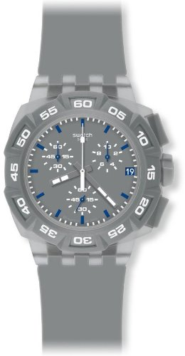 Swatch Men's SUIM402 Rubber Analog with Grey Dial Watch