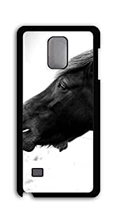Hard Snap on Phone Case case for samsung galaxy note 4 4d - Sunset running Mustang Horse