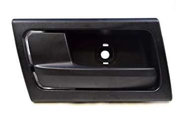 Front Black PT Auto Warehouse FO-2363A-LH Driver Side Inside Interior Inner Door Handle