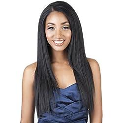 "Isis Human Hair Blend Weave - Mega Brazilian Remi 4PCS (16""/18""/20""/22"", 1B OFF BLACK)"