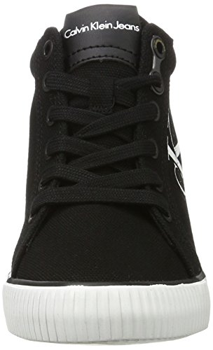 Damen Blk Klein Ritzy Calvin Schwarz High Top Jeans Canvas w8qxzf
