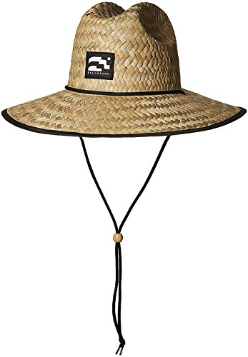 Brooklyn Surf Men's Straw Sun Lifeguard Beach Hat Raffia Wide Brim, (Mens Straw Hat)