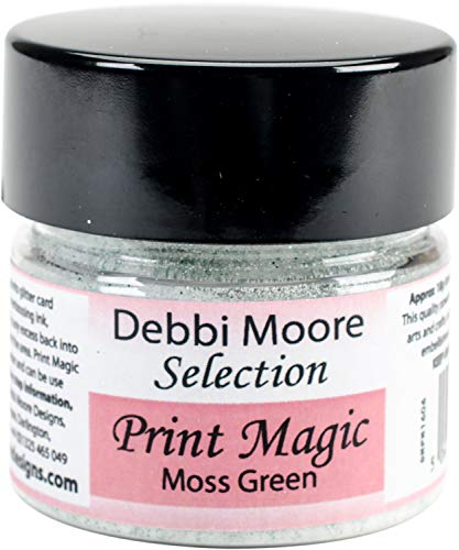(Debbi Moore Print Magic Ultra Fine Embossing Powder-moss Green)