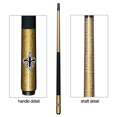 Officially Licensed NFL New Orleans Saints Billiard Pool cue (New Orleans Saints Cue Stick)