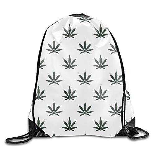 (Marihuana Weed Gym Drawstring Backpack Unisex Portable Sack Bag)