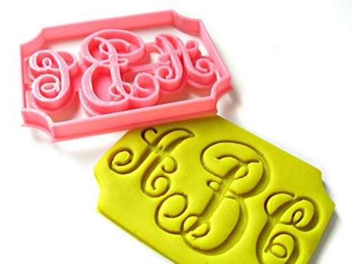 Three Letters Monogram Custom Cookie Cutter, Vintage Style, Personalized Your Initials, Birthday Wedding Anniversary