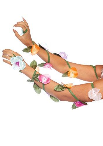 Leg Avenue Women's Fashion Costume Festival Flower Arm Wraps, Multi, One Size ()