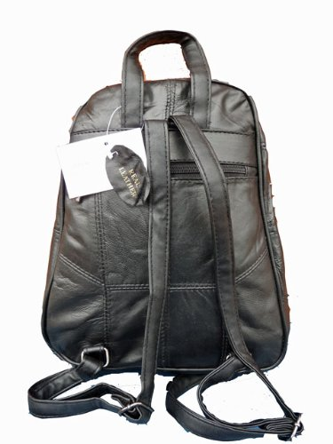 76e5668ab3 Leather Backpack Bags - Luxury Soft Black Sheep s Nappa Rucksack - Small  Size Handbag Backpacks - Fully Nylon Lined - Small Leather Back Pack Handbag  - 30cm ...