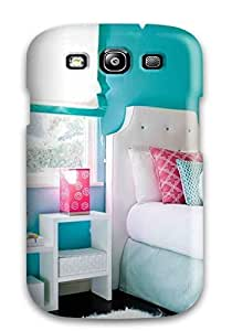 Cynthaskey Design High Quality Pink Paisley And Blue Wall In Tween Bedroom With Excellent Style For Case Samsung Galaxy S5 Cover