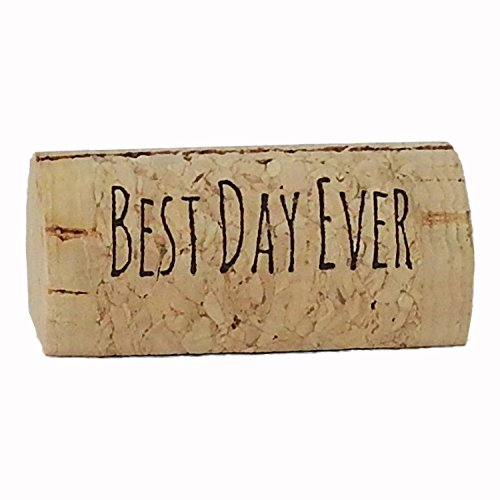 EMazing Goods Wine Cork Place Card Holders Custom Cork Card Holders Best Day Ever Set of 25 Includes Place Cards Escort Card Rustic Wine Cork Table Décor Wine Theme Vineyard Wedding Cork Placecard