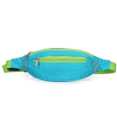 Alger Poches poches courir les femmes et les hommes à l'extérieur mobiles Equitation fitness personnel poche imperméable à l'eau voyage des ceintures de sécurité, lake blu