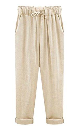 Linen Crop Capri Pants - 5