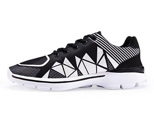 UMmaid Mens Tennis Schuhe Casual Leicht Sport Laufschuhe Walking Sneakers 2.schwarz