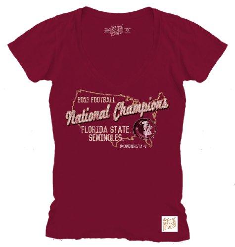 Original Retro Brand Florida State Seminoles 2013 BCS Football National Champions Womens T-Shirt (XL)