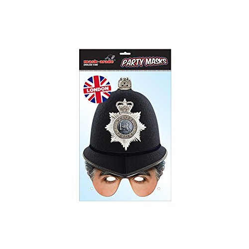 Policeman Half Face Mask (Uk Policeman Costume)
