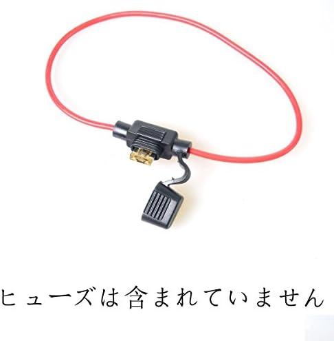 Cocar ATC//ATO Piccola Dimensione Portafusibile Lamellare Cavo In-line per Auto Electronics Modifica Lab solare Sistema Circuito Blow-out//Protezione sovraccarico 16AWG DC Impermeabile Portafusibili