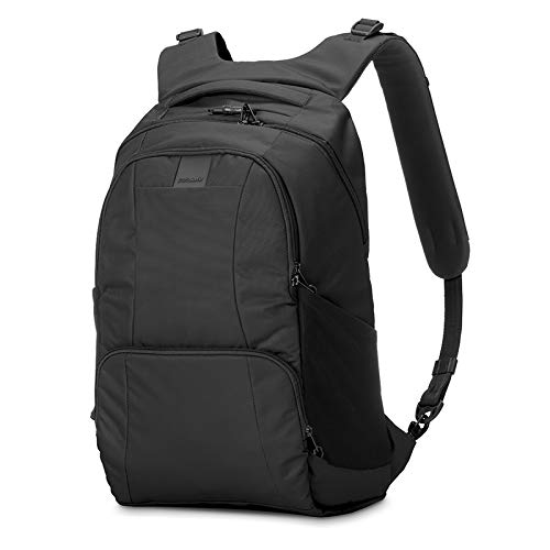 Pacsafe Metrosafe LS450 25 Liter Anti Theft Laptop Backpack - with Padded 15' Laptop Sleeve,...