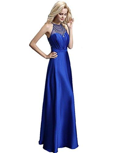 Zurück Thought Königsblau ärmel Abendkleider Online Korn lange Emily Beauty See halter ein 1xqz81Tw